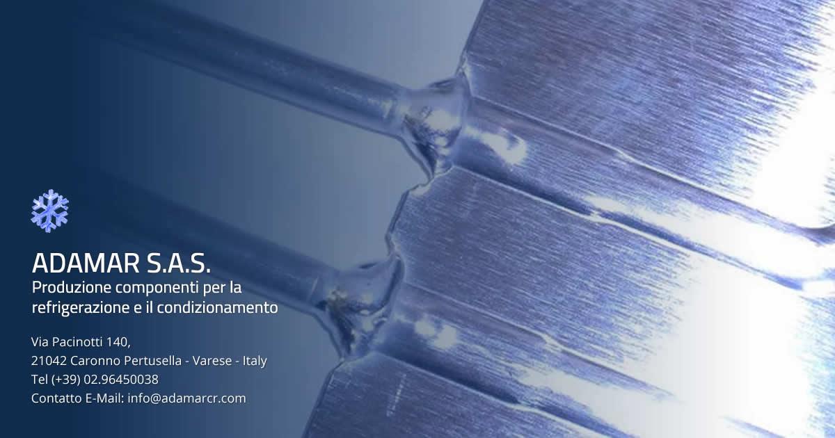 Produzione connessioni rame alluminio, componenti refrigerazione e condizionamento Adamar